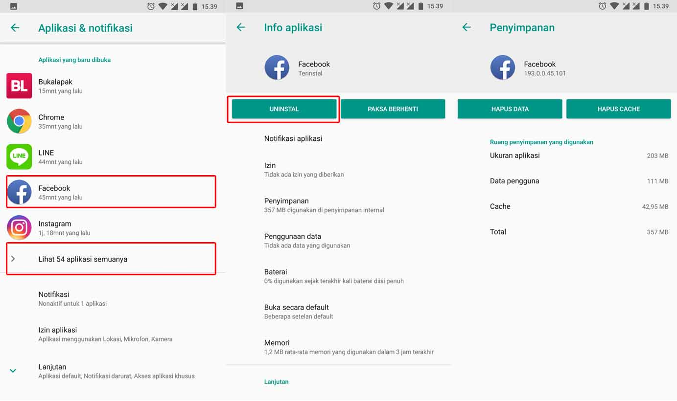 Cara Mengatasi Facebook Tidak Bisa Dibuka di Android - Uninstal